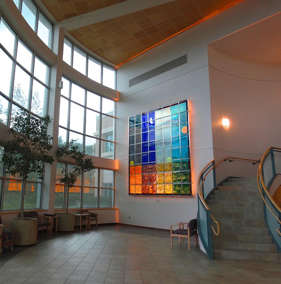 Site-specific LED backlit artwork